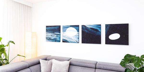 Fotoobrazy na ściane w salonie