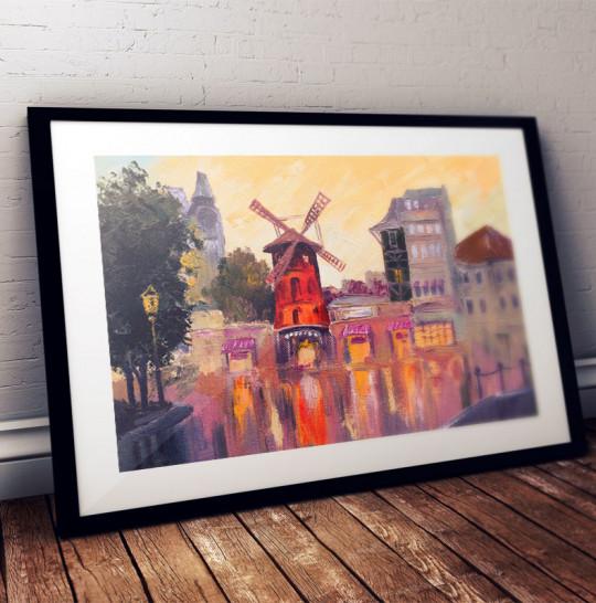 Obraz olejny Moulin rouge, Paryż